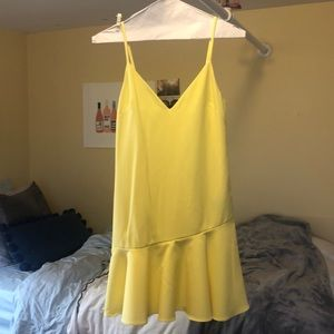 Lovers and Friends yellow ruffled dress